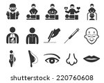 plastic surgery icons | Shutterstock .eps vector #220760608