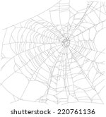 illustration with spider web... | Shutterstock .eps vector #220761136