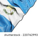 guatemala flag with white | Shutterstock . vector #220762993