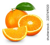 orange fruit isolated on white... | Shutterstock . vector #220769020