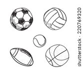 set of cartoon balls  a... | Shutterstock .eps vector #220769320