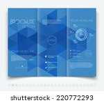 vector modern tri fold brochure ... | Shutterstock .eps vector #220772293