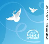 international day of peace... | Shutterstock .eps vector #220772434