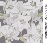 white lily  floral pattern ... | Shutterstock . vector #220772443