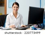 young pretty business woman at... | Shutterstock . vector #220773499