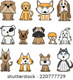 dog collection 01.vector | Shutterstock .eps vector #220777729