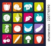 vegetables and fruits vector... | Shutterstock .eps vector #220778590