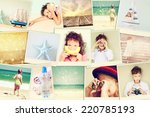 mosaic with pictures of kids in ... | Shutterstock . vector #220785193