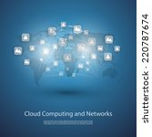 networks  cloud computing ... | Shutterstock .eps vector #220787674
