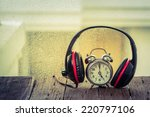 Headphones With Old Clock.music ...