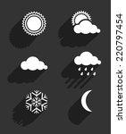 flat design weather icons set...