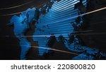 detailed 3d rendered blue world ... | Shutterstock . vector #220800820