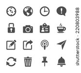 website menu icon set  vector... | Shutterstock .eps vector #220803988