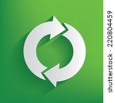 refresh symbol on green... | Shutterstock .eps vector #220804459