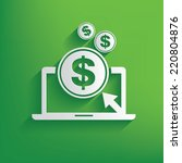 make money symbol on green...   Shutterstock .eps vector #220804876