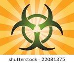 biohazard sign  warning alert... | Shutterstock .eps vector #22081375
