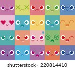 vector cartoon set of twenty... | Shutterstock .eps vector #220814410