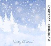 christmas elegant vector  card... | Shutterstock .eps vector #220818604