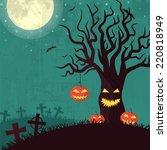 halloween time background...   Shutterstock . vector #220818949