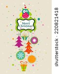 template christmas greeting... | Shutterstock .eps vector #220821418