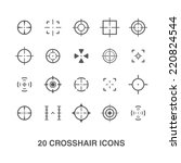 cross hair icons set. | Shutterstock .eps vector #220824544