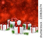 abstract christmas background... | Shutterstock .eps vector #220826374