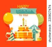 birthday  anniversary  jubilee ... | Shutterstock .eps vector #220827676