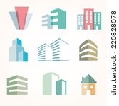 vector city buildings... | Shutterstock .eps vector #220828078