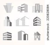 vector city buildings... | Shutterstock .eps vector #220828084