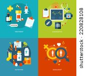 set of flat design concepts for ... | Shutterstock .eps vector #220828108