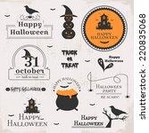 set of halloween labels | Shutterstock .eps vector #220835068
