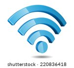 wi fi wireless network symbol ... | Shutterstock .eps vector #220836418