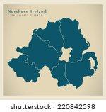 modern map   northern ireland... | Shutterstock .eps vector #220842598