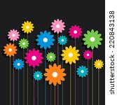 creative colorful flower... | Shutterstock .eps vector #220843138