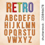 retro alphabet set | Shutterstock .eps vector #220846678