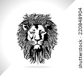 lion vector | Shutterstock .eps vector #220848904