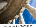 Looking Up At Columns At The...