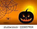 halloween pumpkin background  ... | Shutterstock . vector #220857904