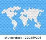 vector illustration world map...   Shutterstock .eps vector #220859206