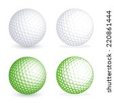 two hi detail golf balls  one... | Shutterstock .eps vector #220861444