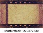 old grunge film strip background | Shutterstock . vector #220872730
