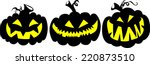 halloween pumpkins   jack o'... | Shutterstock .eps vector #220873510
