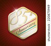 85th anniversary   classy and... | Shutterstock .eps vector #220875949
