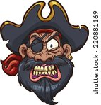 Angry Cartoon Pirate Face....