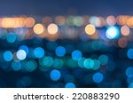 bangkok cityscape at twilight... | Shutterstock . vector #220883290