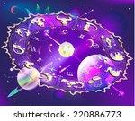 horoscope circle   Shutterstock .eps vector #220886773