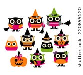 cute halloween owl vector clip...