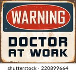 vintage metal sign   warning... | Shutterstock .eps vector #220899664