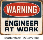 vintage metal sign   warning... | Shutterstock .eps vector #220899700