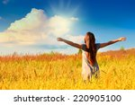 happy girl | Shutterstock . vector #220905100